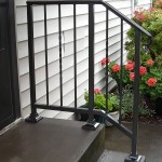 342- ornamental iron stair handrail