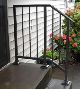342- ornamental iron stair handrail