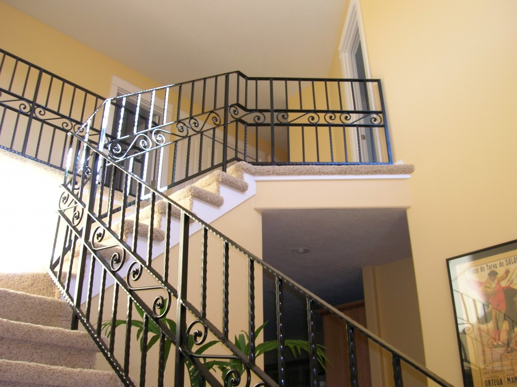 ... 350 Custom Ornamental Iron Interior Residential Railing