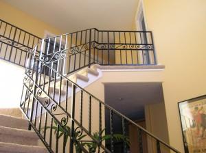350-custom ornamental iron interior residential railing