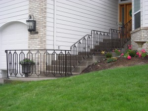 363-custom ornamental iron handrail