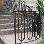 346- custom ornamental iron handrail