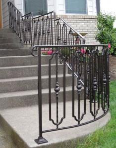 346- custom ornamental iron handrail